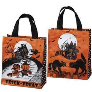 Retro Tote Vintage Halloween Treat Bag